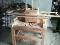 A Traditional Wooden Tea Rolling Machine
