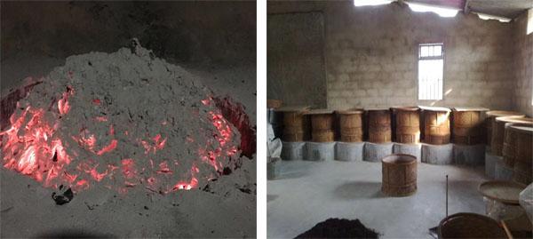 Charcoal Roasting of Da Hong Pao