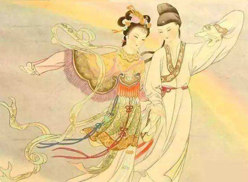 Qing Tou Yi He traditional Chinese picture