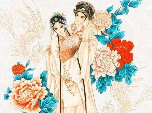 Yi Jian Zhong Qing in traditional Chinese picture