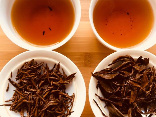 Taste Two Gong Fu Black Tea from the same tea garden