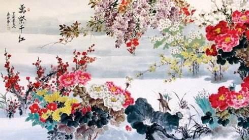 Wan Zi Qian Hong in Chinese traditional picture