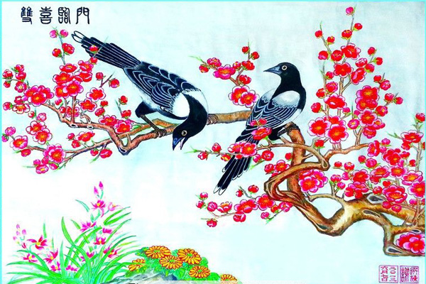 Shuang Xi Lin Men Chinese traditional picture