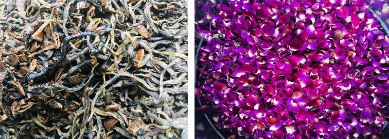 The processing of Vanilla Rose Black Tea